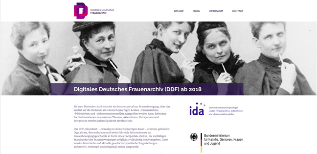 Digitales Deutsches Frauenarchiv Homepage
