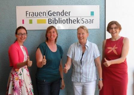Team der FrauenGenderBibliothek Saar