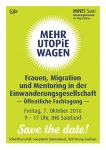 Mehr Utopie wagen, Fachtagung, Save the Date