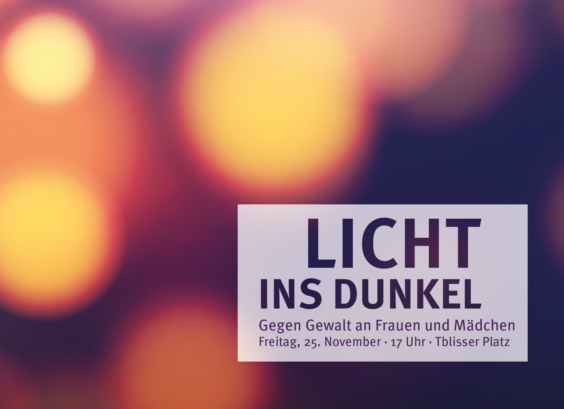 FrauenForum Saarbrücken: Menschenkette zum internationalen Tag gegen Gewalt an Frauen