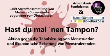 Informations- und Spendenaktion zum Thema Menstruation