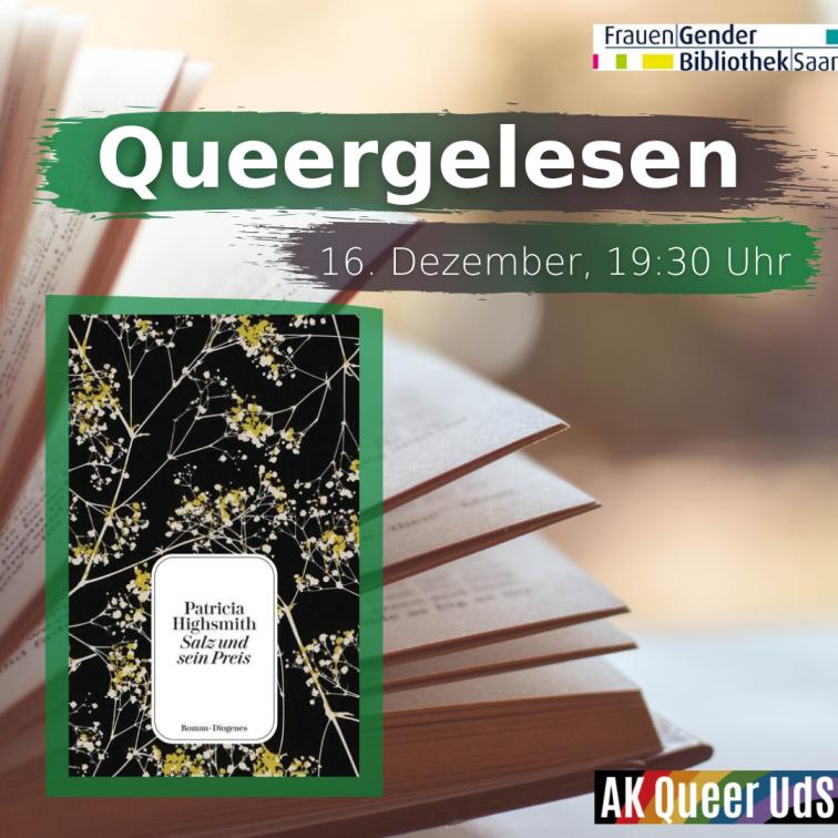 """Nächstes Treffen von """"Queergelesen"""" online am Mittwoch, 16.12.2020, um 19:30 Uhr"""