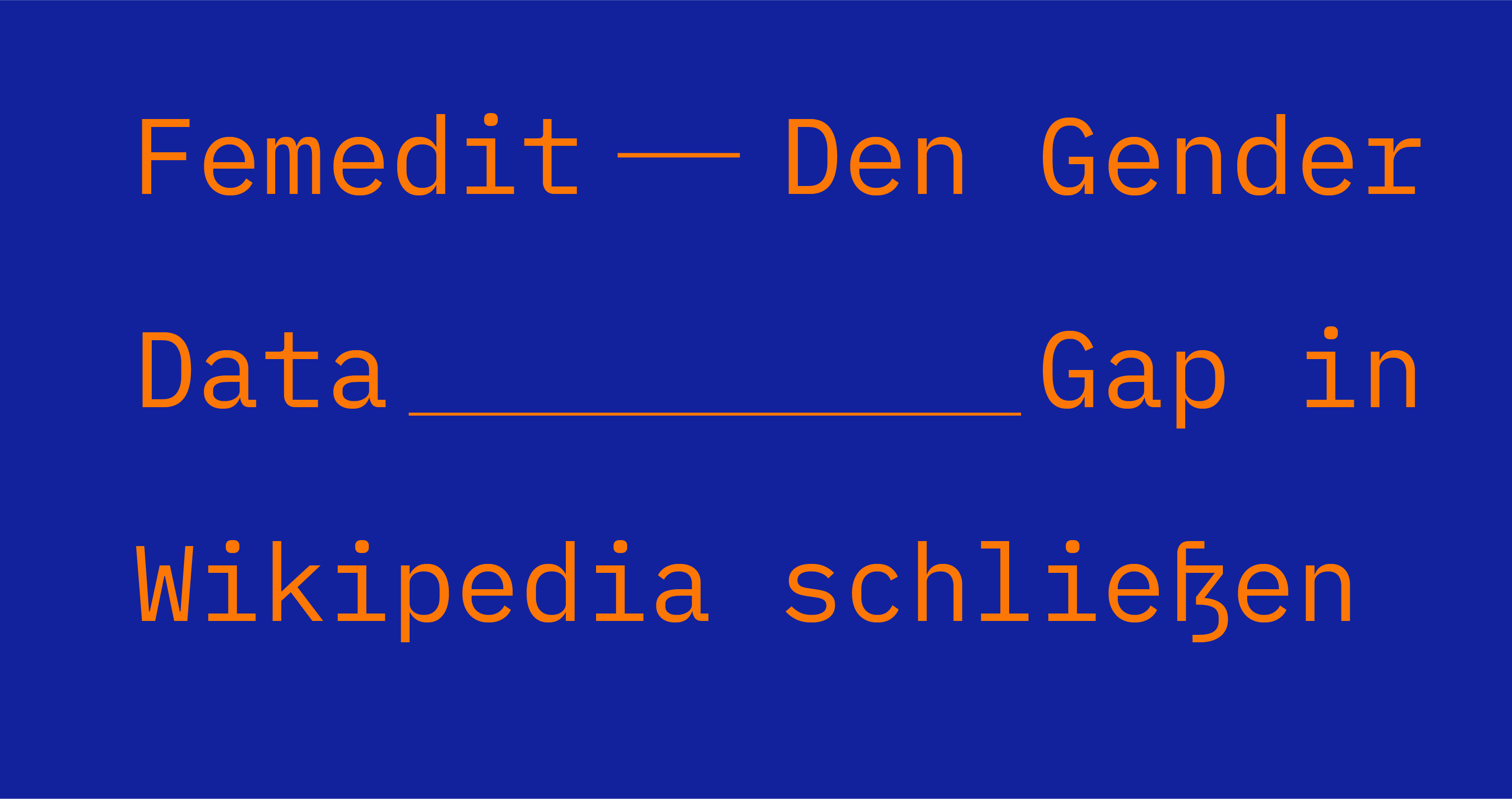 "Online-Seminar ""Femedit – Den Gender Data Gap in Wikipedia schließen"""