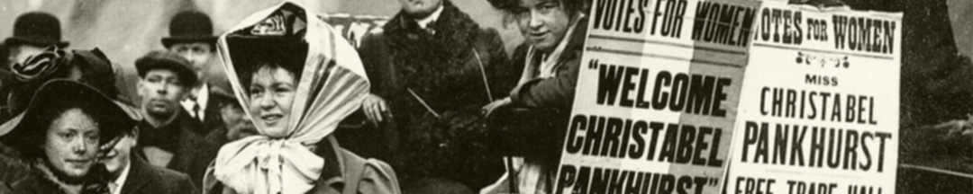 FGBS Fachbibliothek Christabel Pankhurst Postkarte Ausschnitt