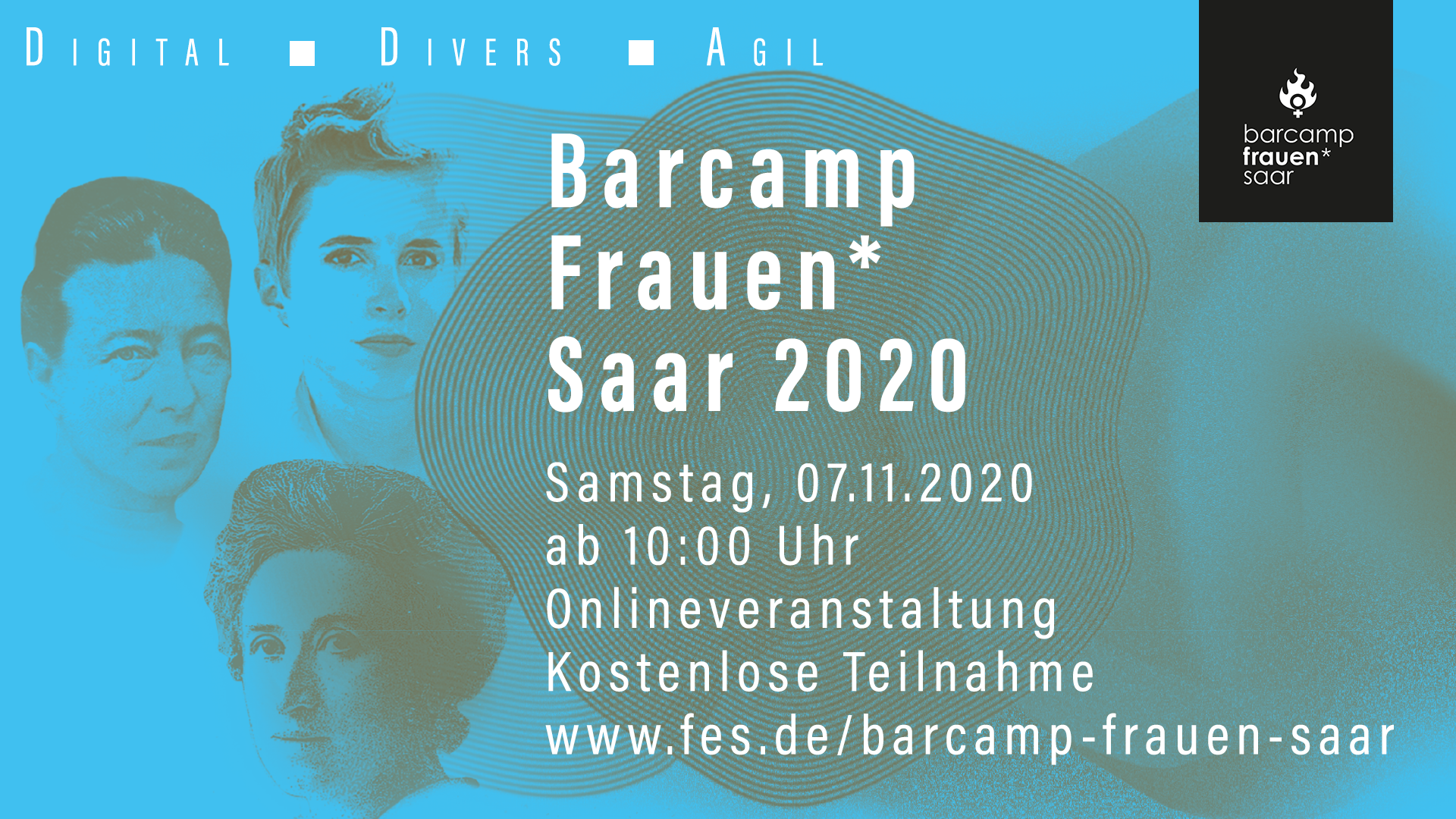 Barcamp Frauen* Saar online am 7. November 2020 von 10:00 bis 15:30 Uhr